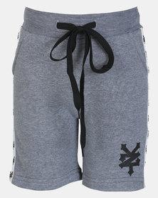 Zoo York Boys Fleece Shorts With Tape Grey Melange
