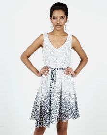 Assuili Fanie Printed Dress Blue