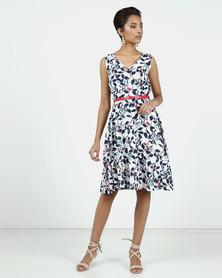 Assuili Bella Printed Dress White