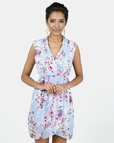 Assuili William de Faye® Fake Heart Cache Liberty Lined Dress Light Blue
