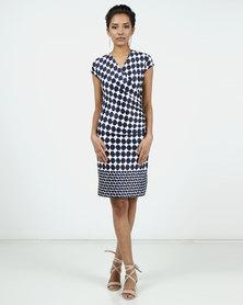 Assuili William de Faye® Special Design Printed Dress Marine