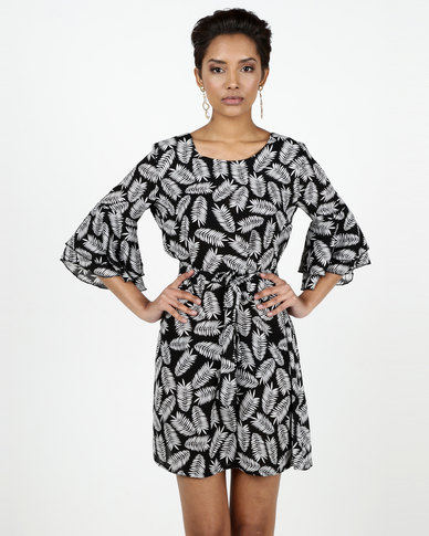 Assuili William de Faye® Special Design Printed Dress Black/White
