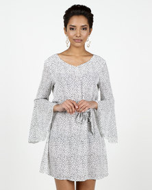 Assuili William de Faye® Special Design Printed Dress White/Black