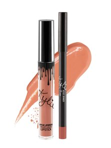 Kylie Cosmetics Velvet Liquid Lipstick Lip Kit LA Nude Peach (Parallel Import)