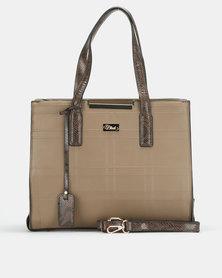 Miss Black Sydney Structured Taupe Bag