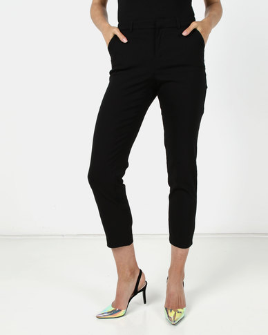 Sissy Boy Midrise Cigarette Leg Trousers Black