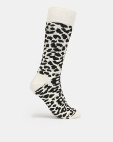 Happy Socks White Leopard Socks