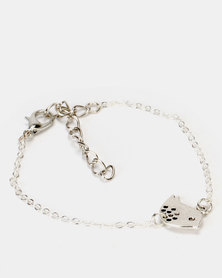 Jewels and Lace Silver Bird Bracelet