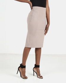 ONDINE Pencil Skirt Taupe