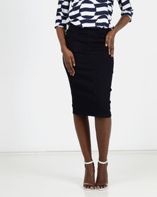 Queenspark Indigo Denim Pencil Skirt