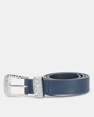 872ce4119650c Queenspark Scattered Mini Pearl Keeper Belt Indigo