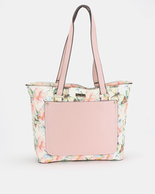 Queenspark Butterfly Printed Bag Pink/Floral