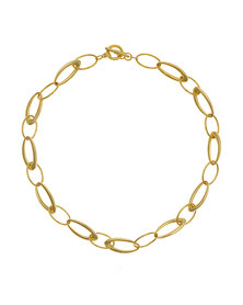 Tifawt Jewellery  Long Link Choker Gold