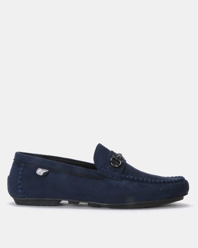 PC Moccasin Bear Causal Slip Ons Navy