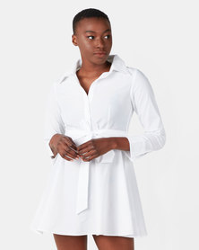 Royal T White Shirt Bow Tie Dress