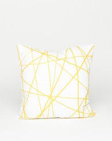 Utopia Geometric Scatter Cushion Yellow