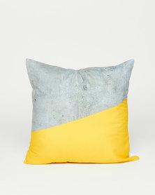 Utopia Two Tone Scatter Cushion Yellow/Grey