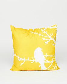 Utopia Bird Scatter Cushion Yellow