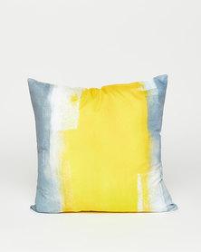 Utopia Printed Scatter Cushion Yellow/Grey