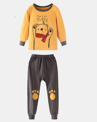 Boys are kings Pyjama Set Yellow