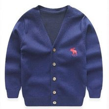 Boys are Kings Cardigan Jersey Blue