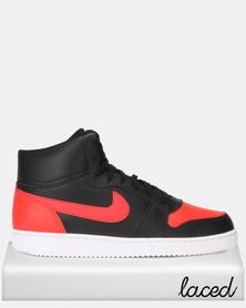 Nike Ebernon Mid Black/Habanero Red/White
