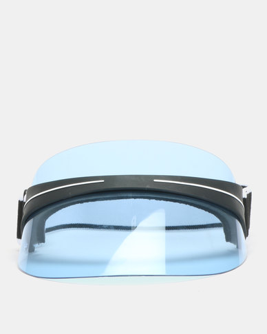 You & I Visor With Adjustable Strap Blue Tint Black