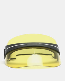 You & I Visor With Adjustable Strap Yellow Tint Black