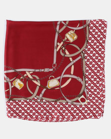 You & I Classic Print Silky Touch Scarf Red