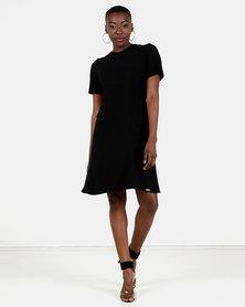 HEMISA - Karen black fit and flare dress - Black