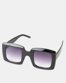 You & I Black Larger Than Life Square Sunglasses