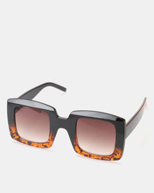 You & I Tortoise Ombre Larger Than Life Square Sunglasses