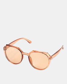 You & I Statement Transparent Caramel Sunglasses