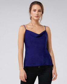 Forever New Carrie Cowl Neck Camisole Cobalt Blue