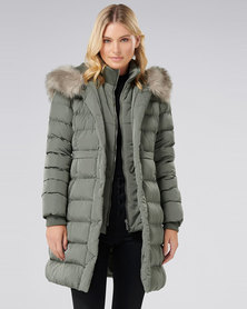 Forever New Polly Puffa Jacket Sage
