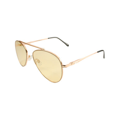 Lentes & Marcos Metropolitano UV400 Yellow Aviator Sunglasses