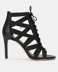 Call it Spring MANDALI Black High Heeled Open Toe Sandal