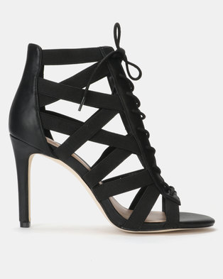 f56694fecd677 Call it Spring MANDALI Black High Heeled Open Toe Sandal