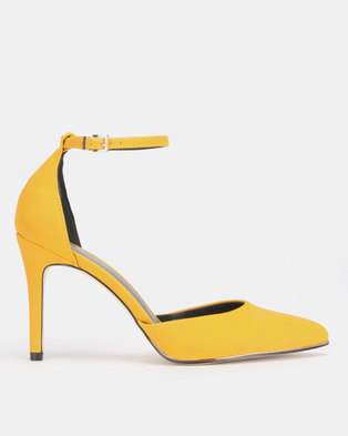 97a13c4e0 Call It Spring ICONISS High Heeled Ankle Strap Pump Yellow