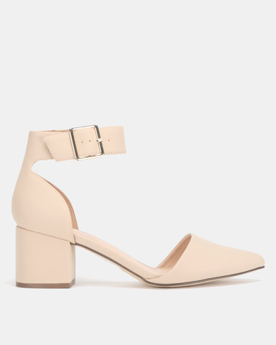 413a976472c Call It Spring AGRALERIA Nude Mid Ankle Strap Heel Pump