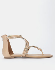 Call It Spring JELLES Strappy Flat Sandal Nude