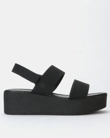 Call It Spring ADERACIA Black Flatform Open Toe Sandal