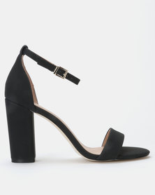 Call it Spring TAYVIA Black High Heeled Ankle Strap Sandal