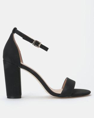 9de3caab8de Call it Spring TAYVIA Black High Heeled Ankle Strap Sandal