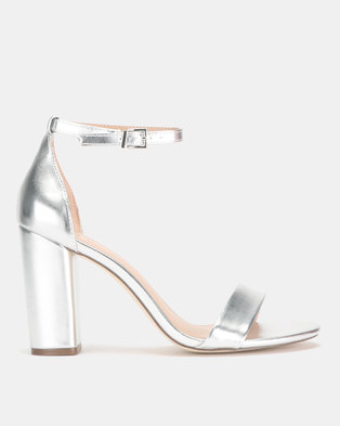 90b4ae993d356 Call It Spring TAYVIA Silver High Heeled Ankle Strap Sandal