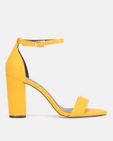 Call It Spring TAYVIA Yellow High Heeled Ankle Strap Sandal