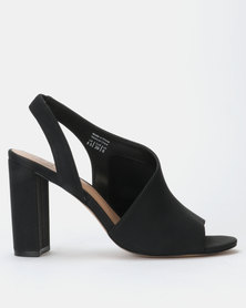 Call it Spring SAMUAL Black Block Heel Slip On Sandal