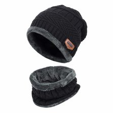 Big Brothers and Sisters Wholesalers Beanie & Winter Neck Warmer Black