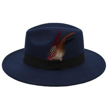 Big Brothers and Sisters Wholesalers Wide brim Fedora Wool Hat Blue - 57cm