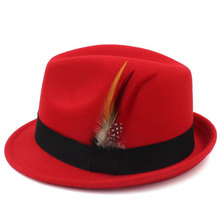 Big Brothers and Sisters Wholesalers Fedora Panama Hat Red